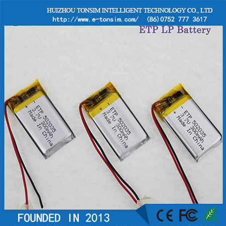 2016 TONSIM rechargeable Li -ion type 300 mah 3.7v lithium ion recharge battery small 3.7v li ion battery