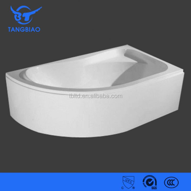 Xuancheng white clear flat rim slipper cast iron bathtub