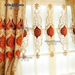 Fancy curtains with embroidery design and cheap price sheer curtain fabric