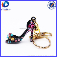 Custom Retro High Heel Shoes Key Ring For Sexy Lady
