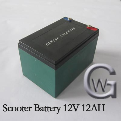 Scooter battery 12 v 12ah 20hr battery 12v 12ah small rechargeable Lead Acid Battery