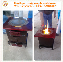 Warming and cooking biomass stove