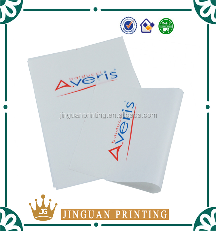 Custom logo printed color tissue paper wrapping