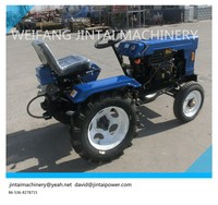 Small tractor 10HP 4X2 farm tractor, with trailer or rotary tiller.