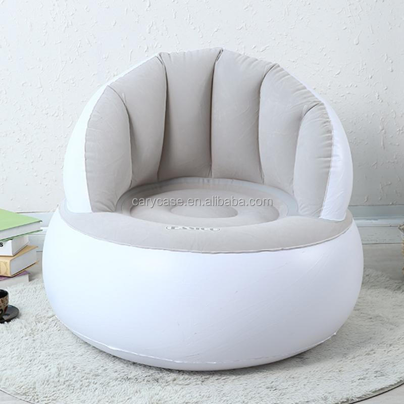 Jilong inflatable air sofa beanbag chair folding single cute creative adult bedroom living room sofa