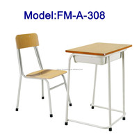 Cheap wood school chair and desk