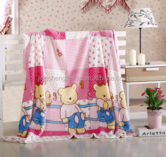 New design soft feel 100% polyester Eco-friendly high quality low price baby blanket/flannel fleece baby blanket/kids blanket