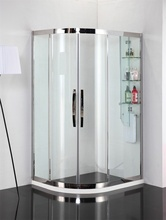 modern design stainless steel shower enclosure with nickel brushed shower door