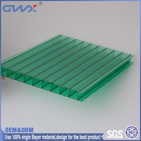 Multi layers light transmision 50 micron UV- protection clear polycarbonate hollow sheets