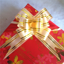 Customized design mini christmas gift ribbon bow, printed pull bows