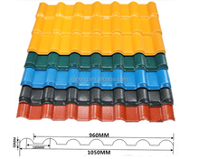 4x8 Corrosion Resistance roofing Materials plastic Spanish Roof Tile/corrugated PVC roofing sheet
