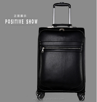 Sympathy men's suit carrier leather trolley travel luggage bag