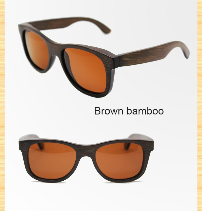 High Quality Wholesale Bamboo Sunglasses in Polarized lens Wood Frame