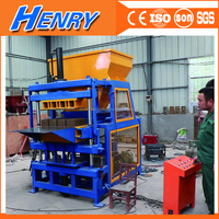 New technology HR4-14 fully automatic compressed earth brick machine, manual clay soil interlocking brick making machine price