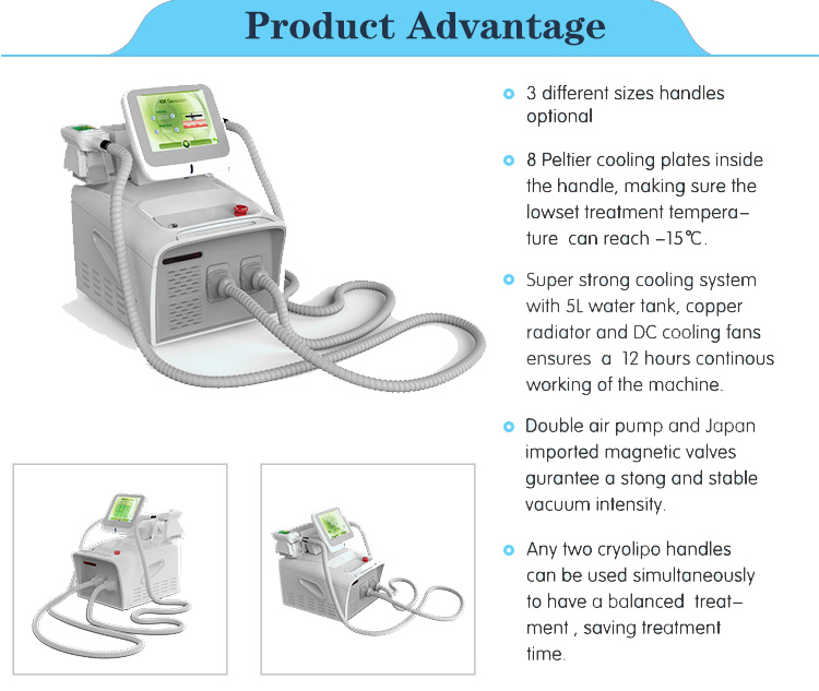 2018 hot sale cryolipolysis cryotherapy beauty salon equipment weight loss cool tech fat freezing slimming machine