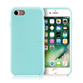 New product anti-fingerprints liquid silicone + hard PC material matte and fluff design cover case for iPhone 7
