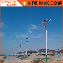 solar power energy panel street led light battery all in one with pole