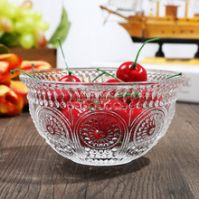 2018 new Australia style Bubble design machine-made glass fruit/salad/ice cream/Chocolate bowl for hotel bar table supermarket