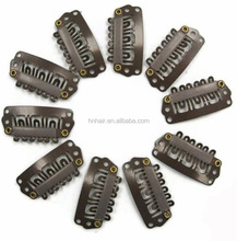 U shape clips for hair extensions/wig/weft 24mm 28mm 32mm Brown