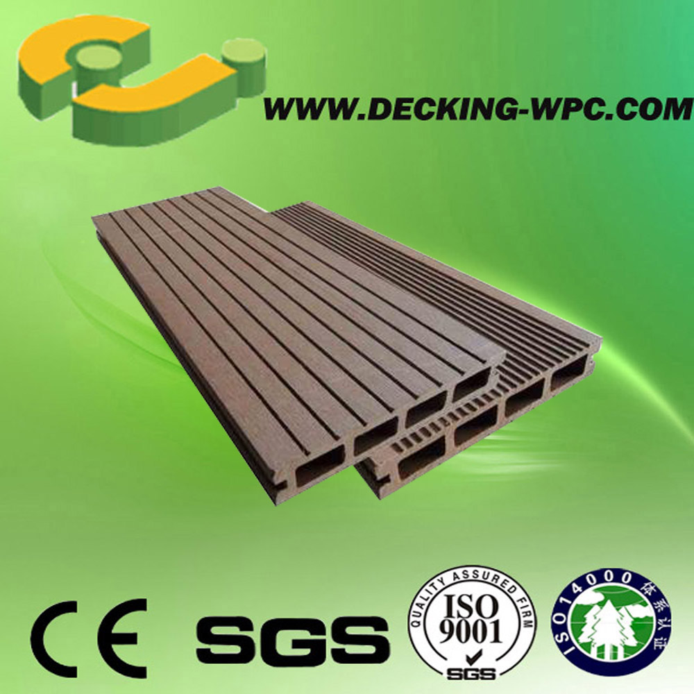 Popular and Cheap Plastic Wood Composite Hollow and Solid WPC Weather Resistant Decking!