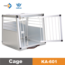 KA-601 light weight portable folding aluminium crate deluxe aluminum dog cage for car