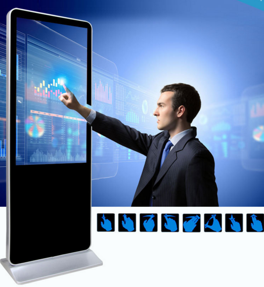 55inch wireless touch screen led display with smart board