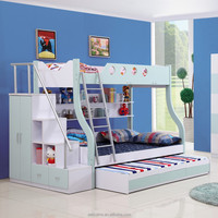 children furniture wood bench functional bunk triple beds