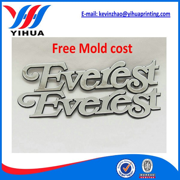 Customize ABS chrome plating Metal Nameplates Badge Emblems Car Logo Sticker Auto exterior parts