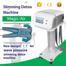 New Design !!! Air Wave Pressure Slimming Machine Lymphatic Drainage Detox Massage Machine with CE Certification
