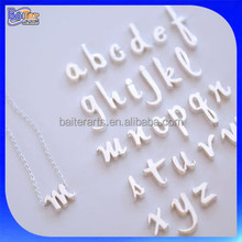 New Design A-Z Alphabet Style Charm Pendant Necklace Initial Jewelry 925 Sterling Silver Alphabet Letter Necklace Wholesale