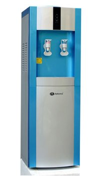 compressor standing cold&hot water cooler with fridge
