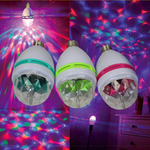 LED Disco Club DJ Light Crystal Magic Ball Effect MINI RGB Stage Lighting