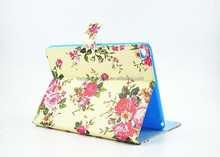 Butterflies over Flowers leather smart folio case for ipad 6 tablet 9.7