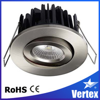 Tilt IP20 and IP44 dimmable fire rated led cob ceiling light