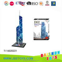 Bank of China Tower 3d paper puzzle
