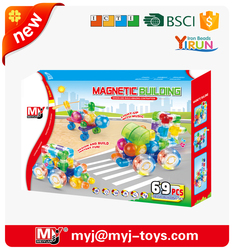 JM024680 3 IN 1 Magical magnet 2016 Top sales train block toys and Top sales magnetic toys 69PCS