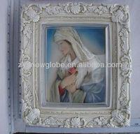 Resin christian decorate photo frame