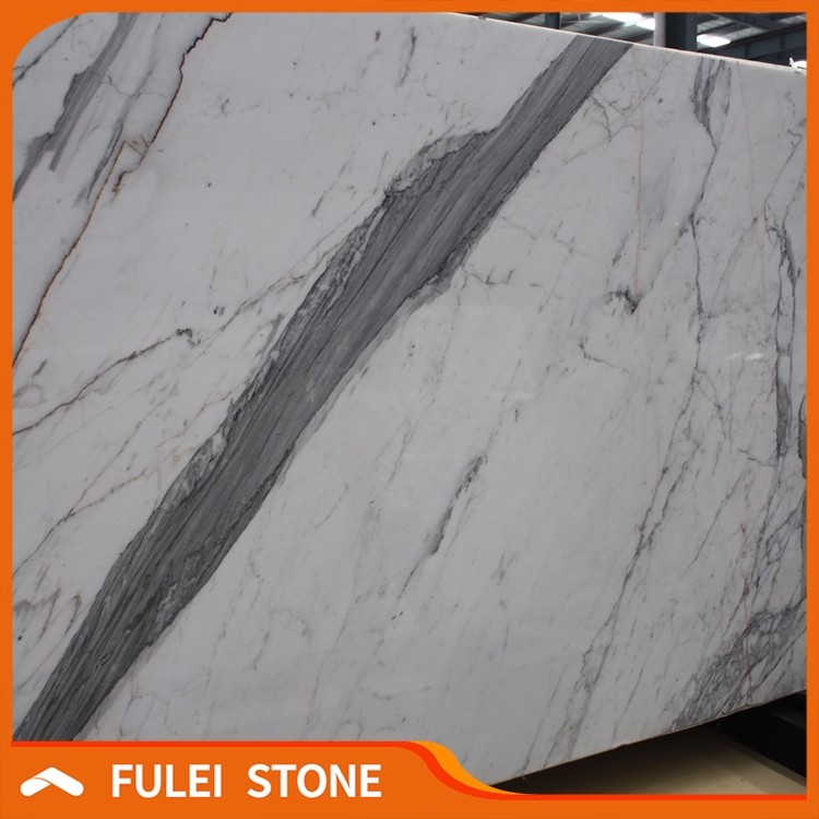 Hot sale top quality italian white statuario venato marble slab