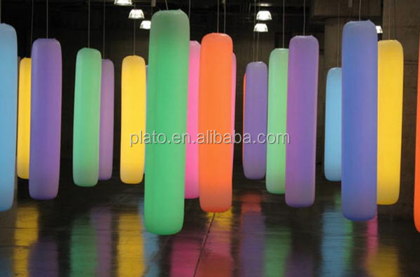 Inflatable advertising lighting tube for promotion, Custom colorful inflatable long tube with led light
