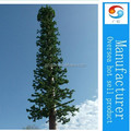 camouflaged pine tree cell phone tower for telecommunication