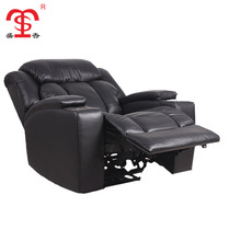 Imported american style leather electronic recliner sofa for living room