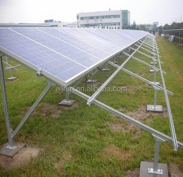 Galvanized stainless steel aluminium ground style solar panel mounting stand called stand for solar panel stand
