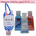 z-214 Merry Christmas:50ml empty hand sanitizer bottle with carabiner