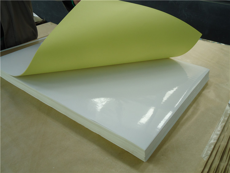 hi-glossy one sided adhesive paper for inkjet printing