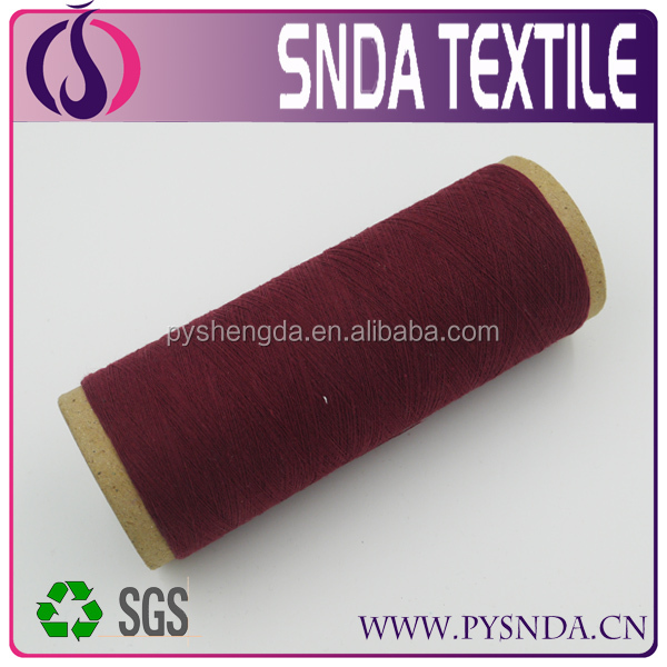 High quality open end recycled 100 cotton yarn