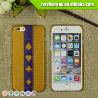 2016 newest fashion leather PU+PC cell phone case for iphone6S