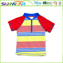 The latest hot sales beach clothing colored stripes 2016 new boys swimwear models 2016 factory oem