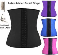100% Latex plus size Women Latex Rubber Waist Trainer Girdle Underbust Cincher Body Shaper Shapewear clothes walson