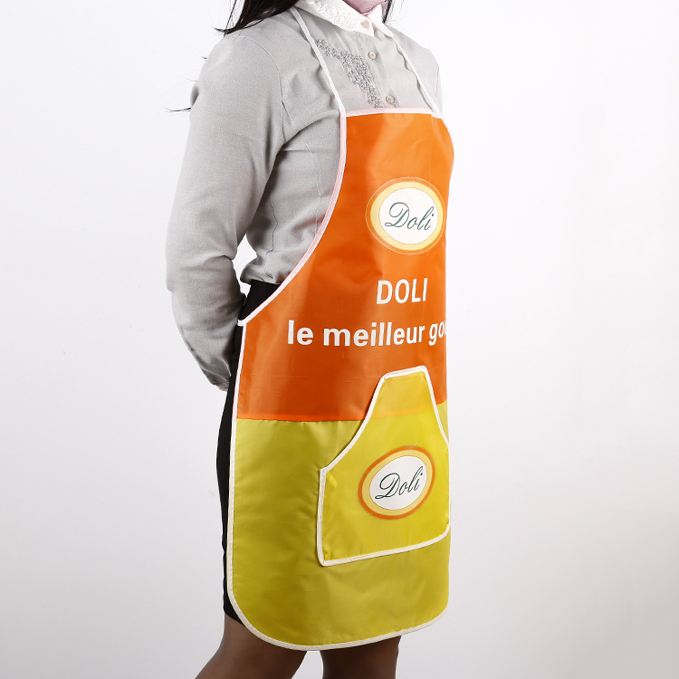 Custom made colorful printing logo waterproof reusable chef non woven apron