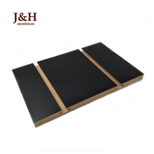 Newest Popular Black Glossy Easy Clean Decorative Slotted Board Groove Slat Wall Panels UV MDF Slotboard With Aluminum Inserts